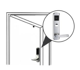 akses kontrol pintu handle