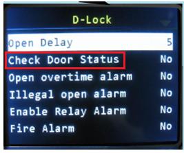 check door status