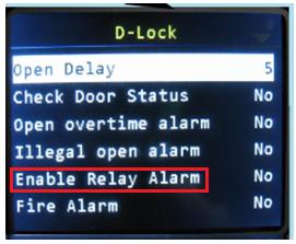 enable relay alarm