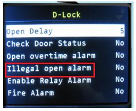 illegal open alarm